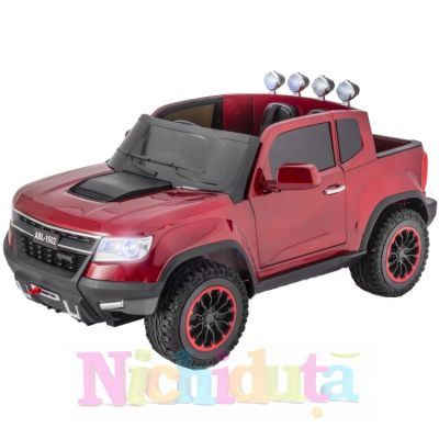 Masinuta electrica cu telecomanda 2.4Ghz Invincible Jeep Offroad Red