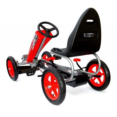 Kart cu pedale si roti gonflabile Full Ahead Racer Red