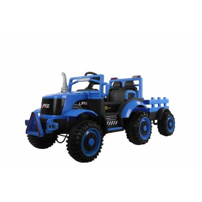 Tractor electric cu remorca si telecomanda Nichiduta Country Blue