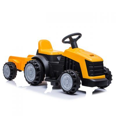 Tractor electric Nichiduta XXL 6V cu remorca Yellow